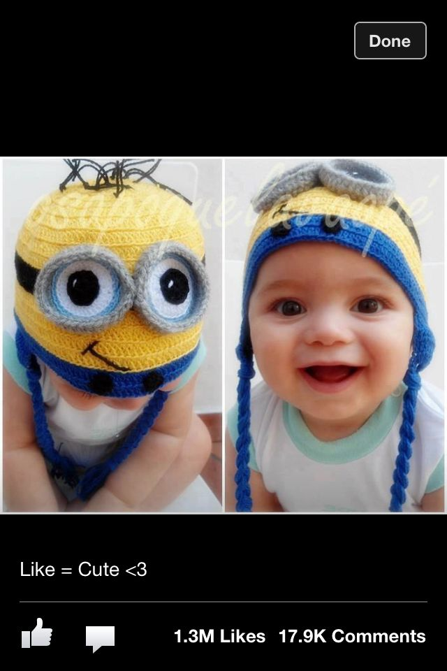 Minion Hat Crochet Characters