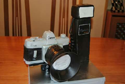 Tarta cámara de fotos Retro.