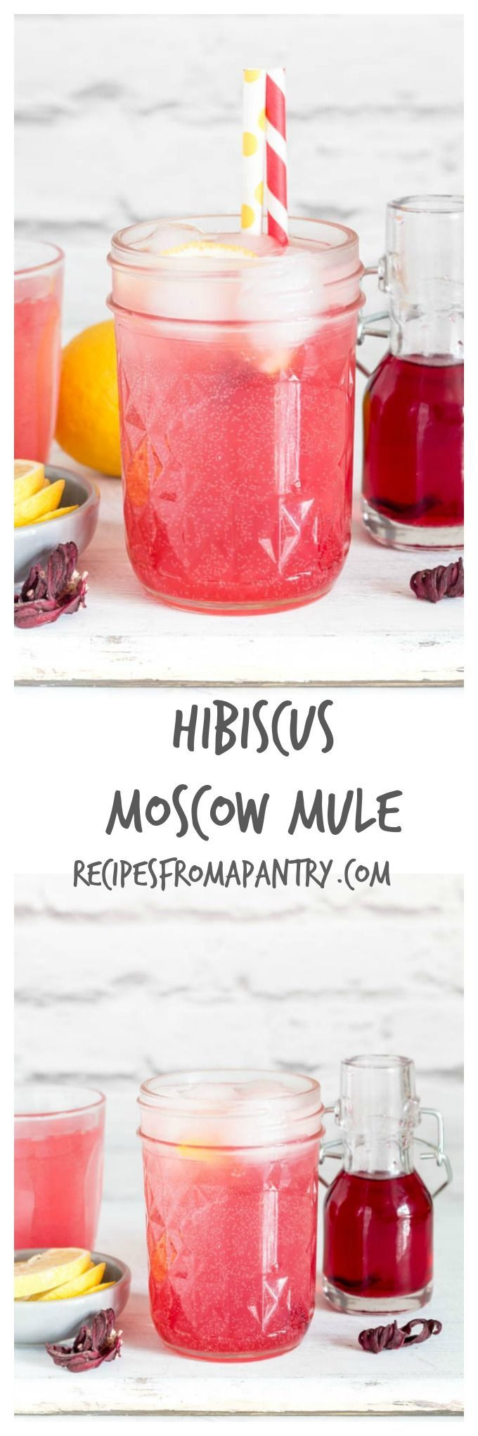 Treat yourself to this Hibiscus Moscow Mule recipe | Recipes From A Pantry