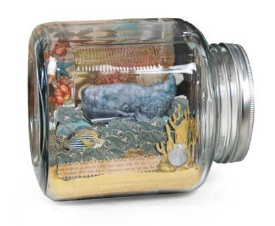 Framed Scene in a Bottle - Create this fun decoration for a child's room, coffee table or just to wow your friends with your creativity.Jars Scene, Frames Scene, Crafts Ideas, Bookends, Memories Jars, Dioramas Scene, Michaels Com, Bottle Projects, Office Decorations