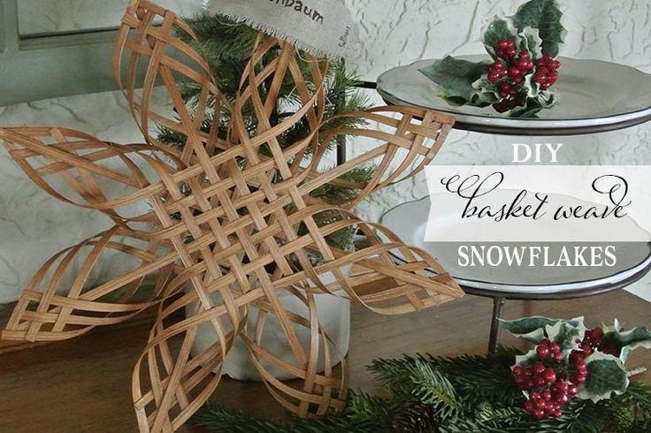 DIY Basket Weave Snowflakes