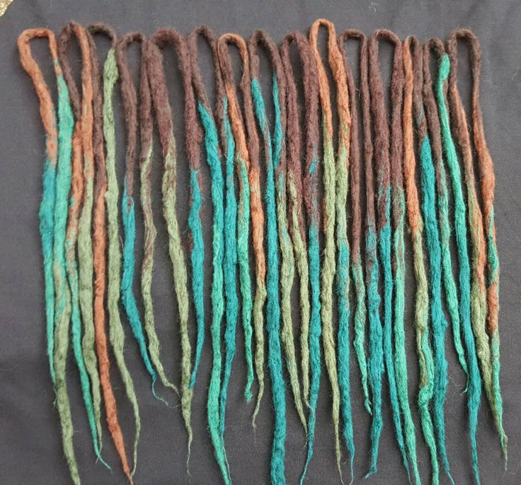 Ready To Ship!! * 15 Double Ended Wool Dreadlock Extensions * Synthetic Dreads * Festival * Cosplay * LARP * Burlesque * Belly Dance * by SisterSarahsShop on Etsy https://www.etsy.com/listing/246646126/ready-to-ship-15-double-ended-wool