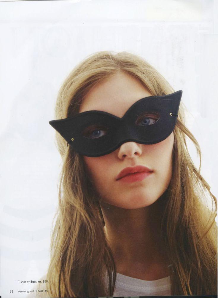 simple black mask #halloween