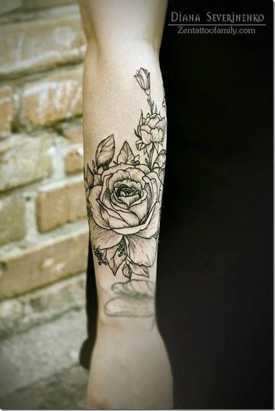 51 best rose tattoos for men images on pinterest rose. Black Bedroom Furniture Sets. Home Design Ideas