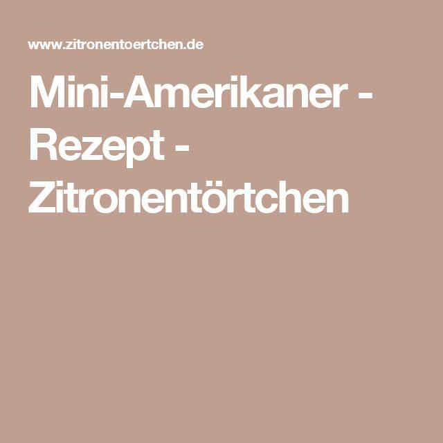 Mini-Amerikaner - Rezept - Zitronentörtchen