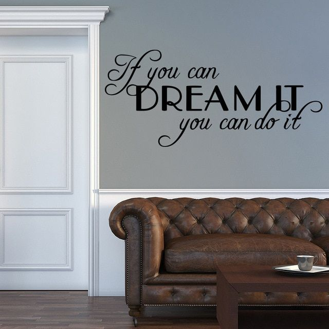 Motivating Sentence Quote Wall Decals Wall Sticker For Bedroom
