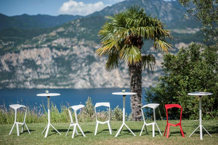 PLANK MIURA stools and tables, design Konstantin Grcic.  http://www.plank.it/products/outdoors/
