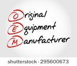 OEM Original Equipment Manufacturer, acronym concept