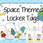 Space Theme Locker Tags-They can also be used to label items in the classroom.  Included: -Red Rocket Ship -Green Rocket Ship -Blue Rocket Ship -Ca...