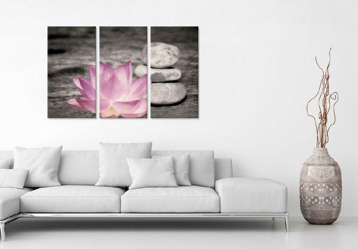 Wanddecoratie Lotusbloem met Stenen