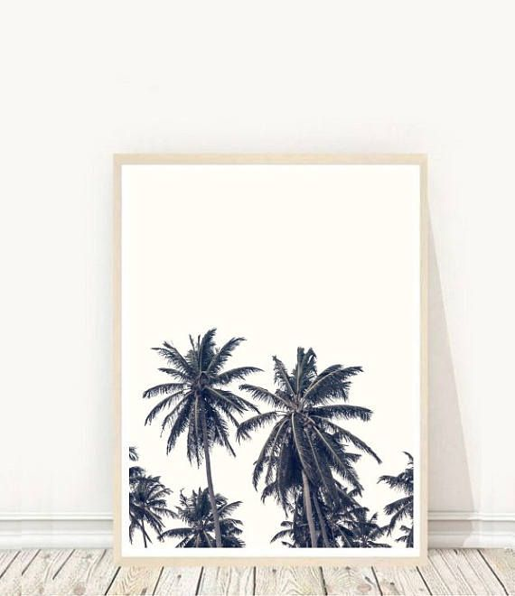 Prints from $7.92 on Etsy Palm Trees Palm Tree Poster Palm leaves Printable Wall Art