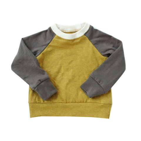 colour block raglan - mini mioche - organic infant clothing and kids clothes - made in Canada