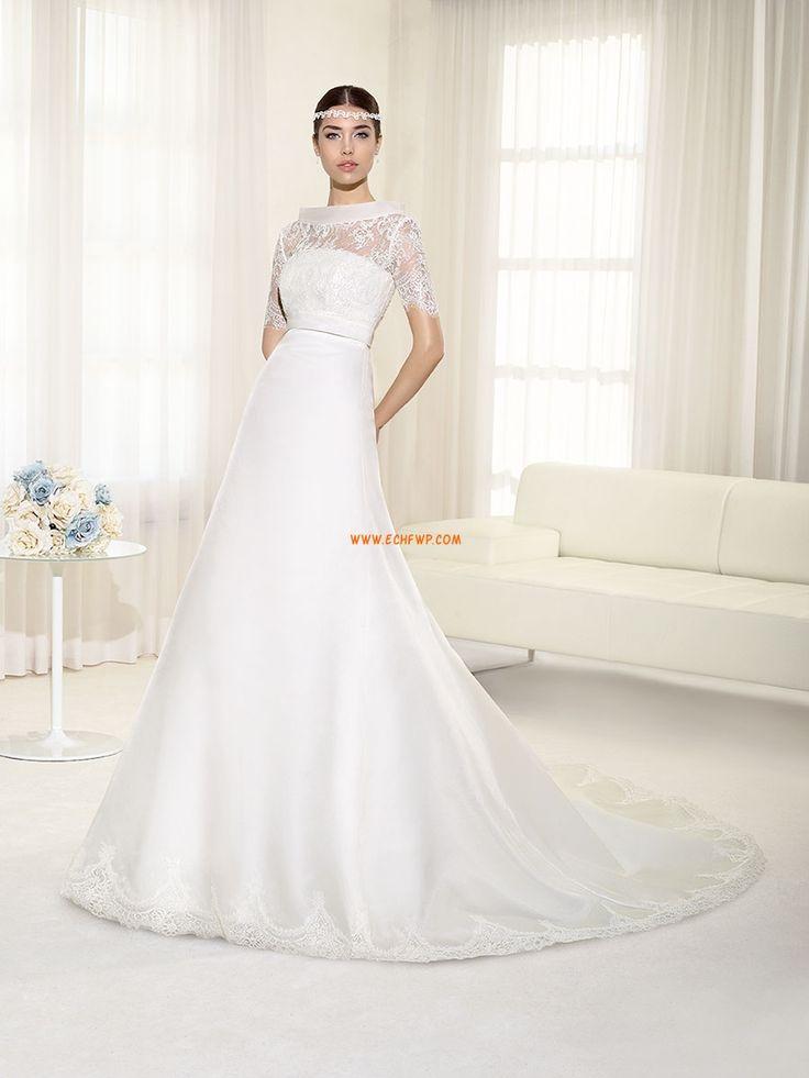 Kostel Áčkový střih Bez ramínek Svatební šaty 2013