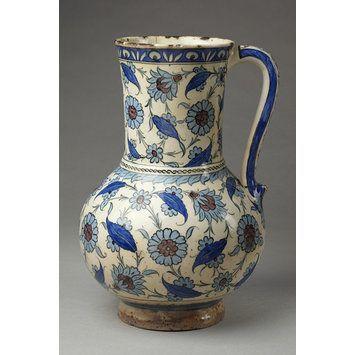 Jug Place of origin: Iznik, Turkey (made) Date: ca. 1540-1550 (made):
