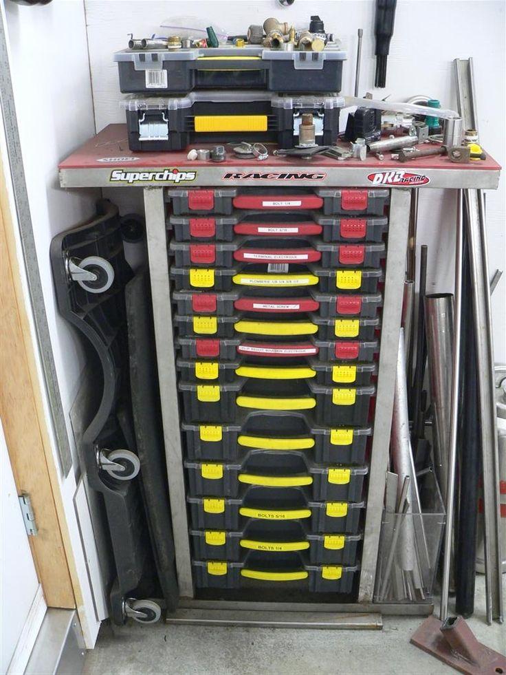 Part Storage For Garages : Best hardware storage images on pinterest garage