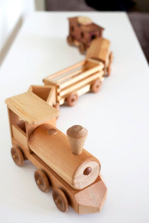 Handcrafted+Wooden+Toy+Train+Set+by+delcraftSF+on+Etsy,+$99.00