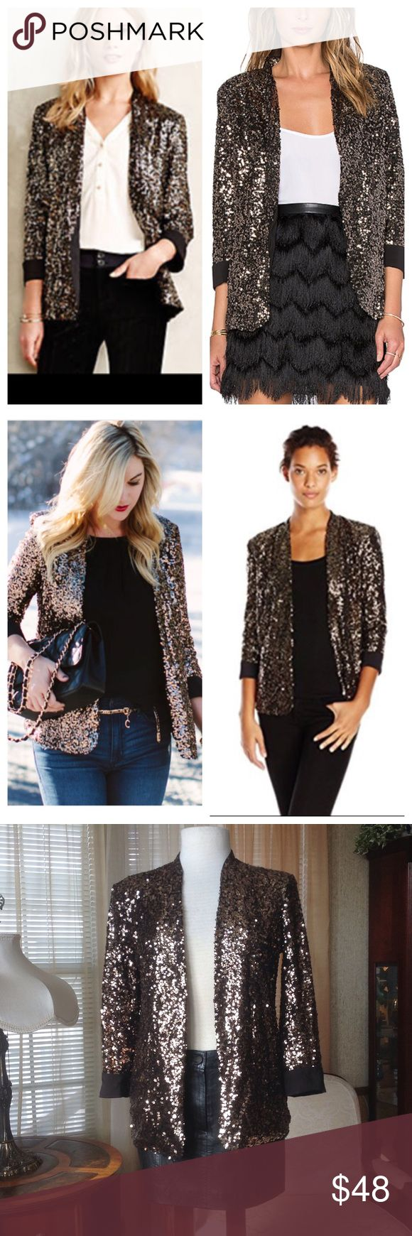 Sam Edelman sequined blazer Worn just once. Like new. .                               c Sam Edelman Jackets & Coats Blazers