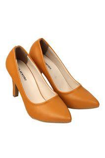 Jual sepatu wanita murah dan berkualitas: CLAYMORE Sepatu High Heels BB-701 Tan