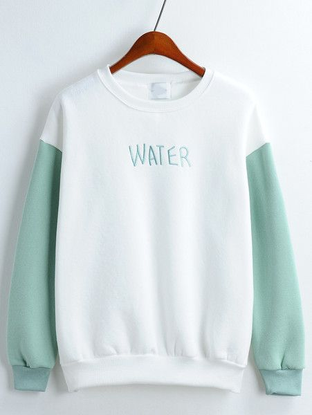 Letter Embroidered Loose Sweatshirt - Zooomberg
