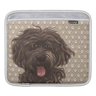 Labradoodle Love dog painting iPad pad horizontal iPad Sleeve