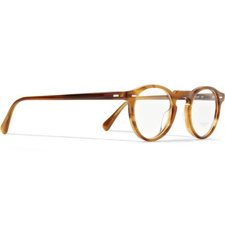 oliver peoples gregory peck tortoiseshell round frame optical glasses