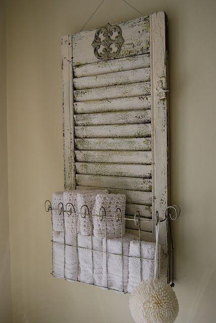 Que faire avec un vieux volet en bois: un porte serviette qui a trop la classe!