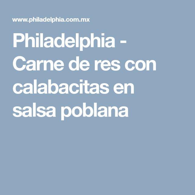 Philadelphia - Carne de res con calabacitas en salsa poblana