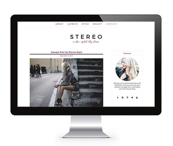 WordPress Theme - STYLE STEREO - WordPress Blog Theme, WordPress Template - WordPress Design – Responsive Wordpress Theme