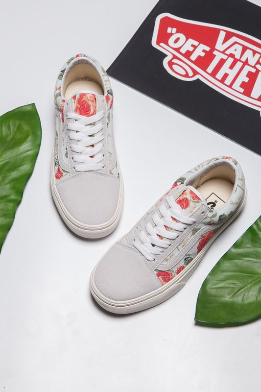 44af14259eb4  Hong Kong purchasing money  vans old skool   Van Sri Lanka white canvas  shoes rose flowers red flowers casual shoes Model  HX12 Size  35-398  Vans
