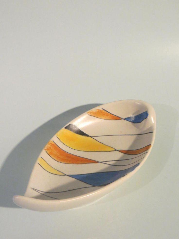 50er Jahre Keramik Schale Zeller Keramik / SCHMIDER - Form 4064 - Dekor 1818