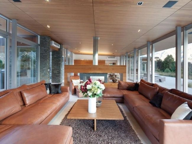 Wohnzimmer Mit Panoramafenster Haus Mit Seeblick
