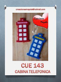 Creaciones Mayola: CABINA TELEFONICA, HAMA BEAD.