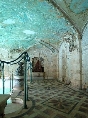 Vizcaya, Coconut Grove, FL, the covered part of the pool.