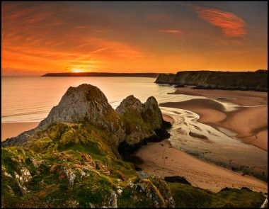 Taken at Three Cliffs Bay by Carl Jones