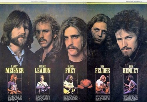 The Eagles Love their music, especially the old classics. Great for when I'm feeling down. Their music picks me up and slaps me on the back.