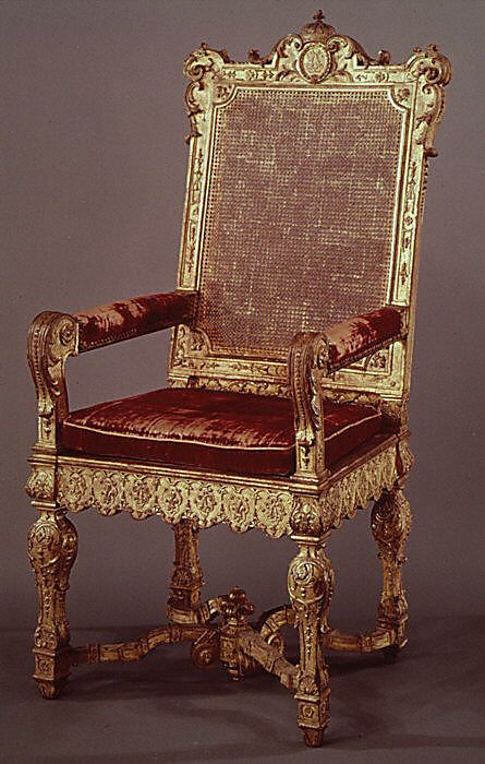 1700-1710 French Armchair at the Metropolitan Museum of Art, New York
