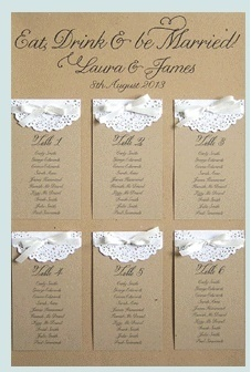 tableau with lace decorations