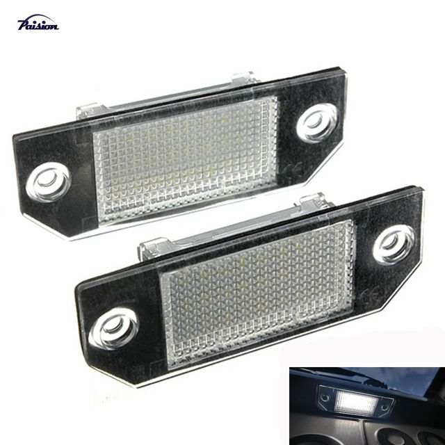 2pcs No Error Led Number License Plate Light Lamp For Ford Focus Mk2 C Max Mk1 Review Number Plate License Plate