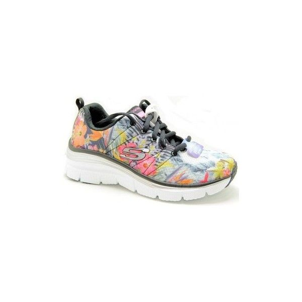 Skechers 12708/BKMT Trainers (995 UAH) ❤ liked on Polyvore featuring shoes, sneakers, multicolour, trainers, women, multi colored sneakers, skechers sneakers, skechers, skechers shoes and multi color sneakers
