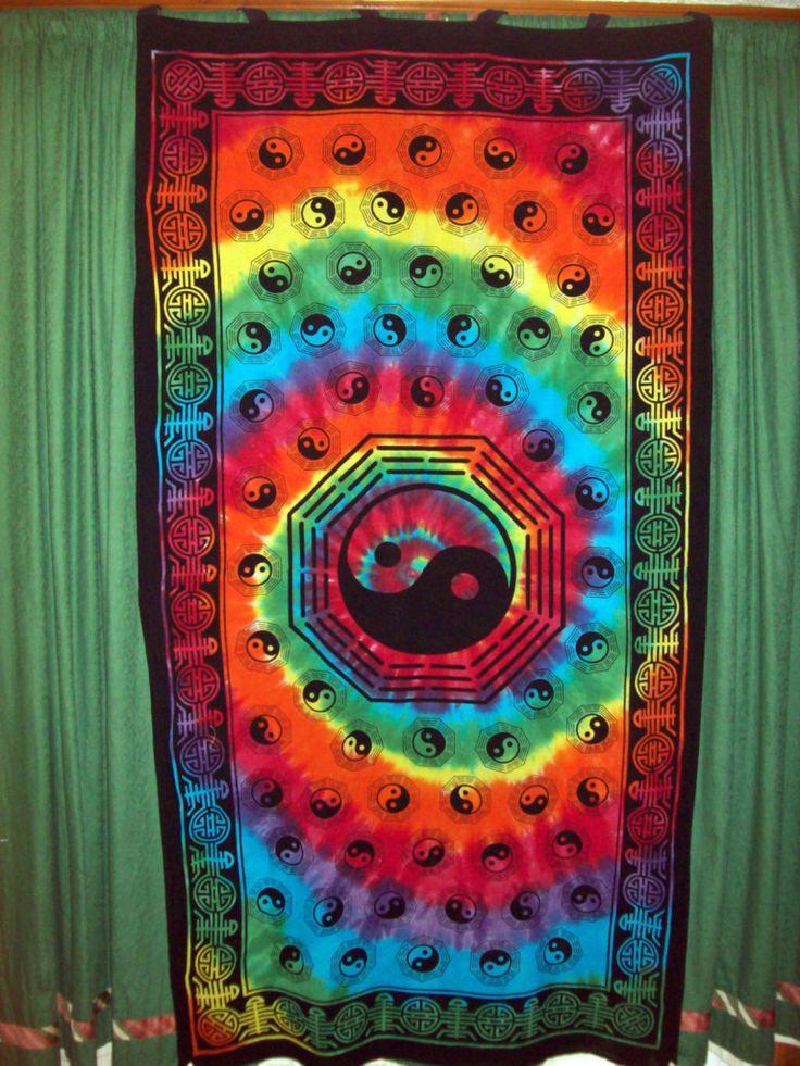 Yin Yang Tie Dye Tapestry Photo Psychedelic Tie Dye