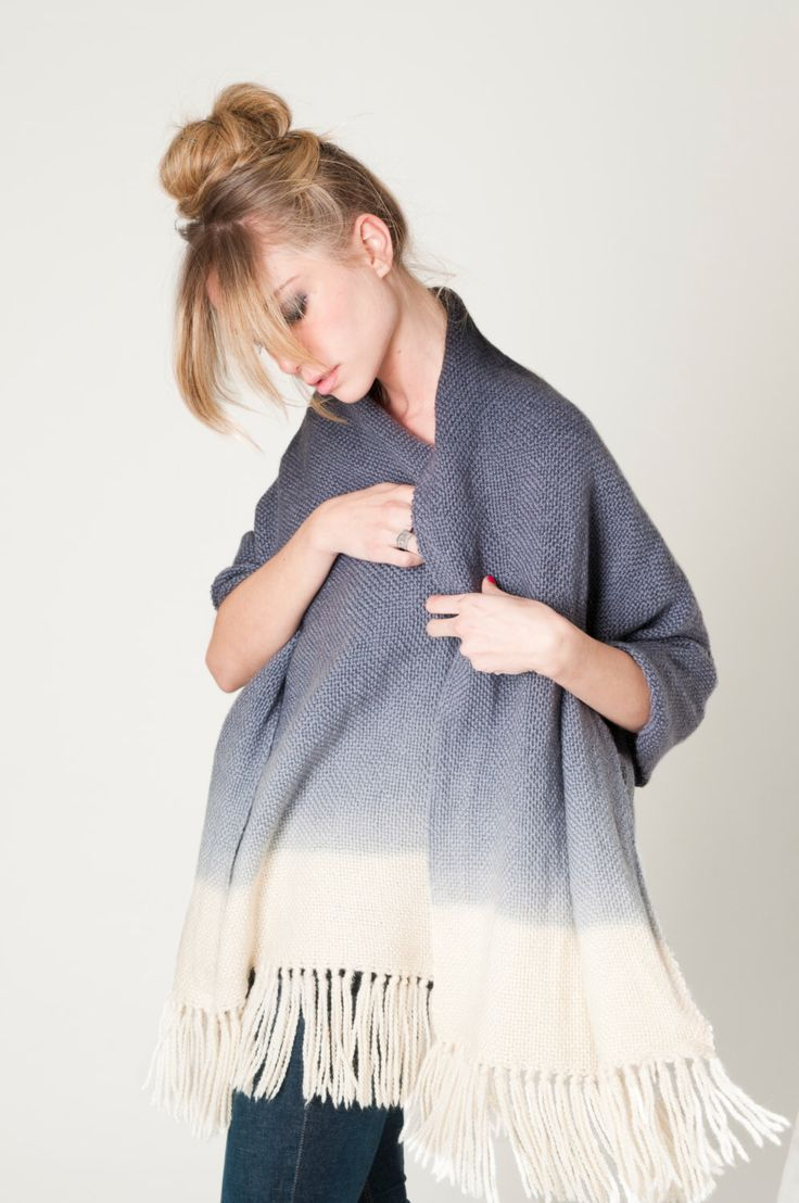 Gray Ombre Pashmina Wrap - Luxury Hand Woven Merino Wool Dip Dye Hand Dyed Scarf by texturable on Etsy https://www.etsy.com/listing/157317629/gray-ombre-pashmina-wrap-luxury-hand