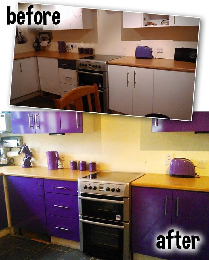 Sticky Vinyl Has Been Used To Transform This Kitchen! Get Your Sticky Vinyl From Www