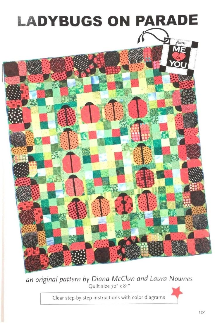 Colorful Ladybug Quilt