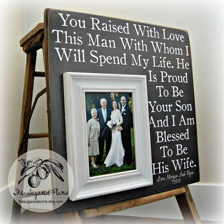 Parents of the Groom Gift Personalized Picture by thesugaredplums