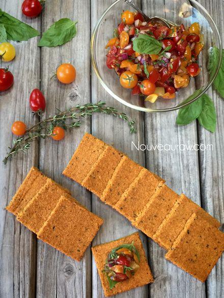 Tomato Herbed Crackers (raw, vegan, gluten-free, nut-free )