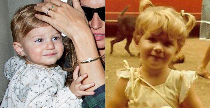 Filha de Gisele Bündchen e Tom Brady é a cara da mãe quando criança