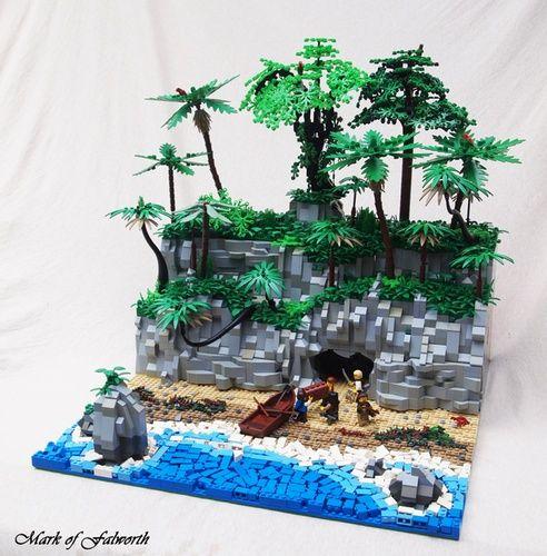 A Treasure Cave.: A LEGO® creation by Mark Erickson : MOCpages.com