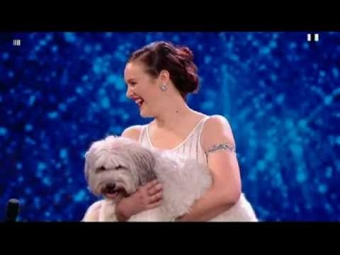 Ashleigh and Pudsey - Britains got talent. This is soo adorable! Pudsey is so cute! <3