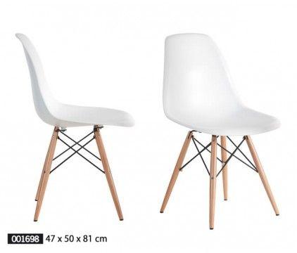Silla absmas madera set de dos modernas y funcionales for Sillas de comedor modernas en argentina