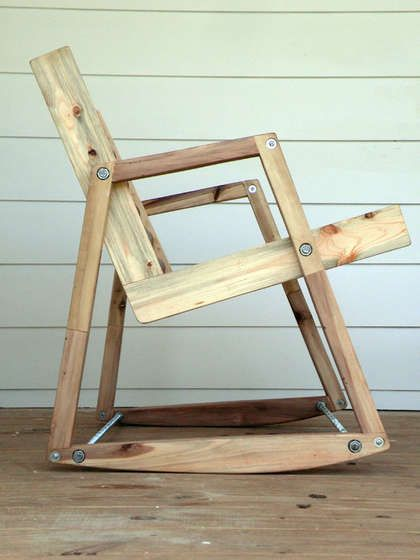 recycled pallet rocking chair.. Too difficult for me but a real good pin